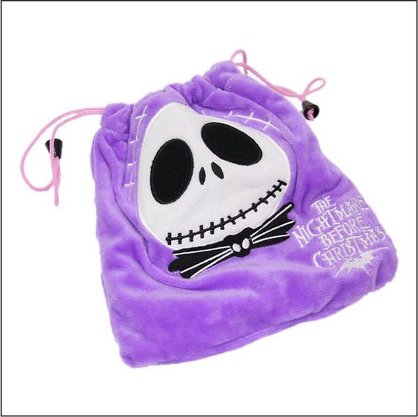Crânio impressão Coin Purse Coin Bag crânio cordão saco Titular do Saco de Dinheiro para o bebê meninas jack carteira como presentes do dia das bruxas