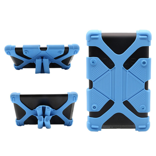 Universal Silicone Tablet Case Protective Stand Cover Bumper Frame For iPad mini pro Samsung galaxy tab LG Tablet