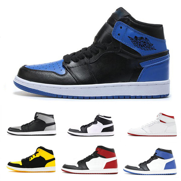 1s Mens Basketball Shoes OG High Bred Black Red Sneakers Air Classic shoes Top Quality Men shoes 40-47
