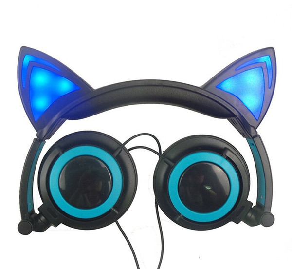 best selling 2018 Cat Ear headphones Pieces New Arrival LED Ear headphone cat earphone Flashing Glowing Headset Gaming Earphones for Adult and Children