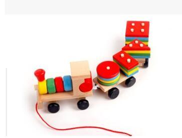 Wooden train toy Vehicles Wood Trains Model Toy Magnetic Train Great Kids Christmas Toys Gifts for Boys Girls 195