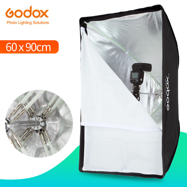 "Photo Studio Godox Portable 60 * 90cm 24"" * 35"" Umbrella Photo Softbox Reflector for Flash Speedlight (Softbox Only)"
