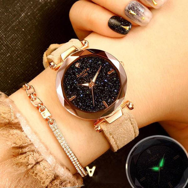 2018 Starry Sky Watch Women Minimalist Top Brand Luxury Wrist Watch For Ladies Female Clock Damski Montre Femme