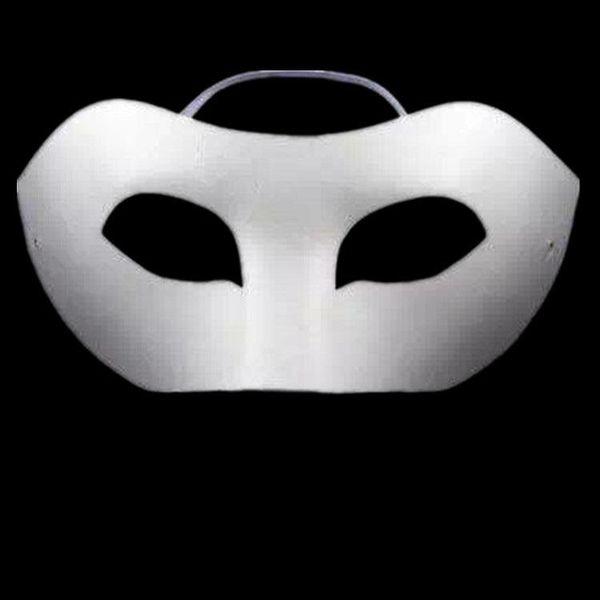 DLM2 Partei maskiert neues einfaches weißes Halbgesicht DIY Kinderkronenmasken Leeres Papier für Halloween-Feiertag # H54