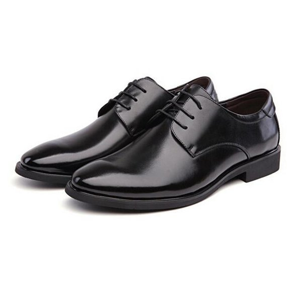 Marque classique homme bout pointu chaussures habillées en cuir noir chaussures de mariage Oxford chaussures formelles pour hommes d'affaires occasionnels Oxfords