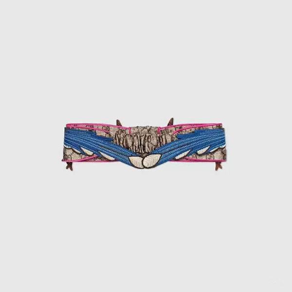 Nuevo lujo de seda bufanda vendas para las señoras de las muchachas de moda G diseñador Animal patrón de la venda del pelo de la marca de las mujeres Headwraps turbante bufanda de alta calidad