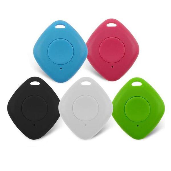 Mini Bluetooth 4.0 Trackers Alarme iTag Key Finder Enregistrement vocal Anti-perdu Tracker Selfie Obturateur NO GPS Tracker Pour ios Android 50pcs
