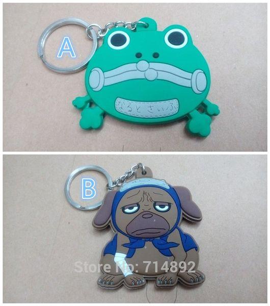 20 pcs / lot Naruto pendentifs cosplay Uzumaki Gama-Bunta / Hatake Kakashi Pakkun cosplay Soft Rubber Figure téléphone porte-clés