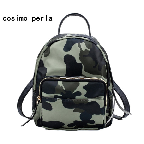 Fashion Cool Bagpack Camouflage Backpack Nylon Oxford Waterproof Women Backpacks Small Travel Rucksack for Teenage Girls