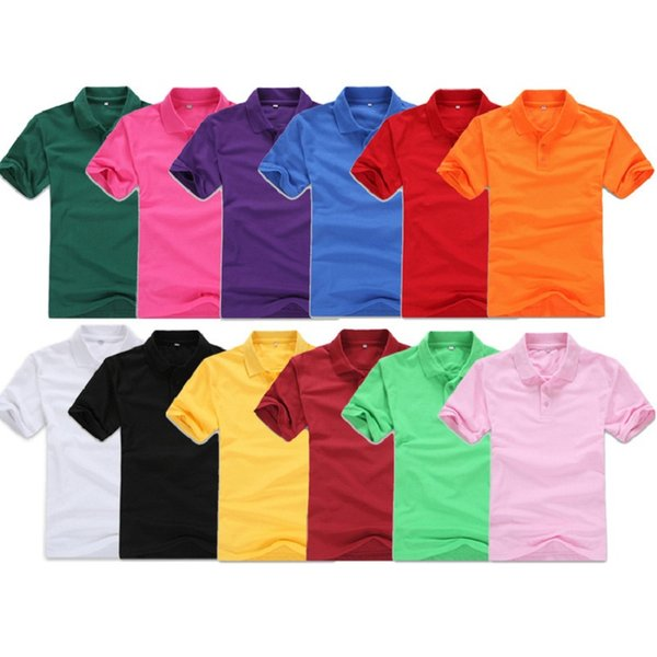Designer Polo Shirt Men Clothing Short Sleeve Tees for Women Summer Style Classic Tops Blue Black White Solid Color