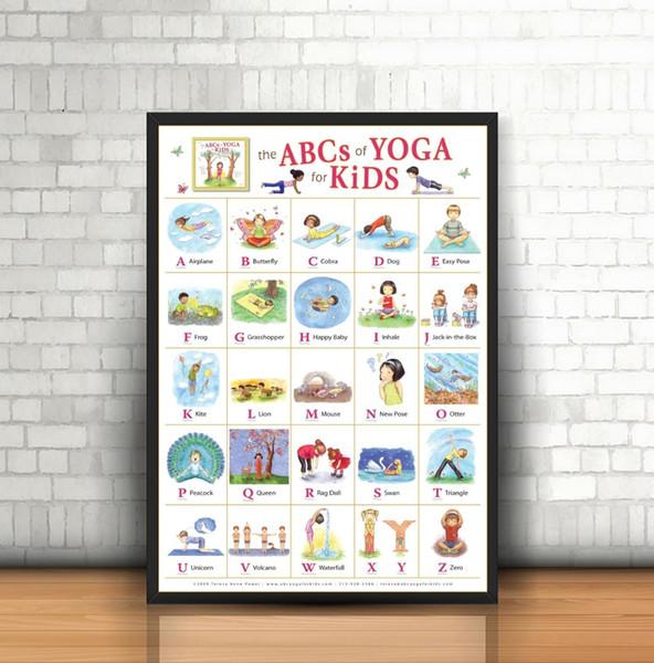Acheter Mon Alphabet Abc Apprendre La Table Pop Soie Art Affiche Imprimer Home Decor Wall De 46 02 Du Aliceer Dhgate Com