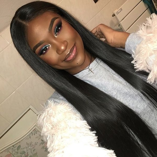 2018 new Qingdao 5a factory 100% unprocessed virgin remy human hair long natural color silky straight full lace wig most popular for women
