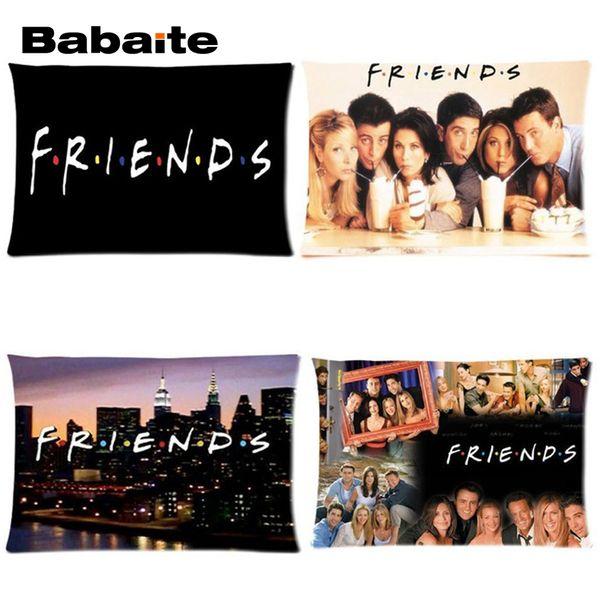 Friends Tv Show Poster Art Series Stampa su Soft Throw divano Federa invisibile con cerniera Twin Sides Copricuscino Sham