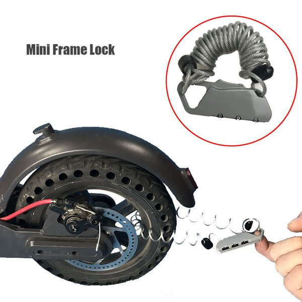 2019 Xiaomi Electric Scooter Code Wire Rope Car Lock Portable Anti Theft  Xiaomi M365 Lock For Electric Scooter Accessories From Brighthan, $19 1 |