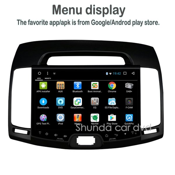 SHUNDA 9 inch HD Android 7.1 T8 2G 32G Car DVD player for Hyundai Elantra 2007-2011 with GPS 3G 4G WIFI BT RDS Radio Navigation Map
