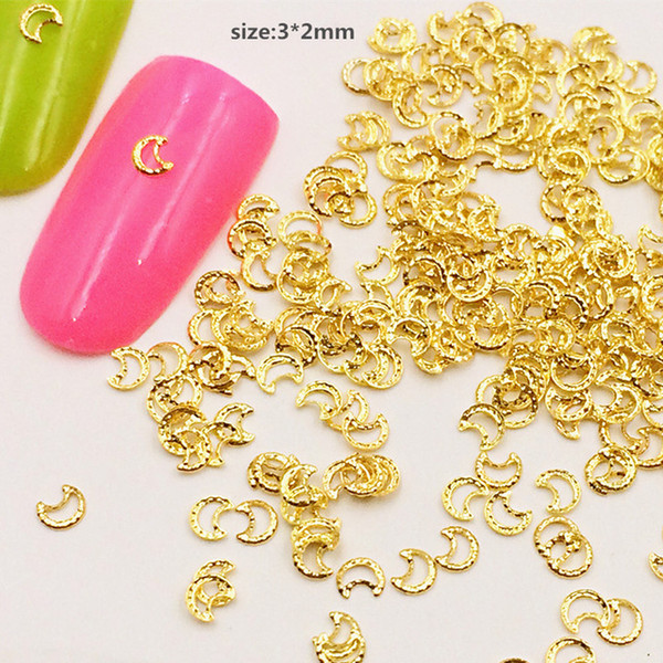500 unids / bolsa Nuevo Japón Corea Del Encanto 3D Nail Art Deco Mini Metal Kawaii Luna remaches Studs DIY Herramientas de Uñas Para Manicura