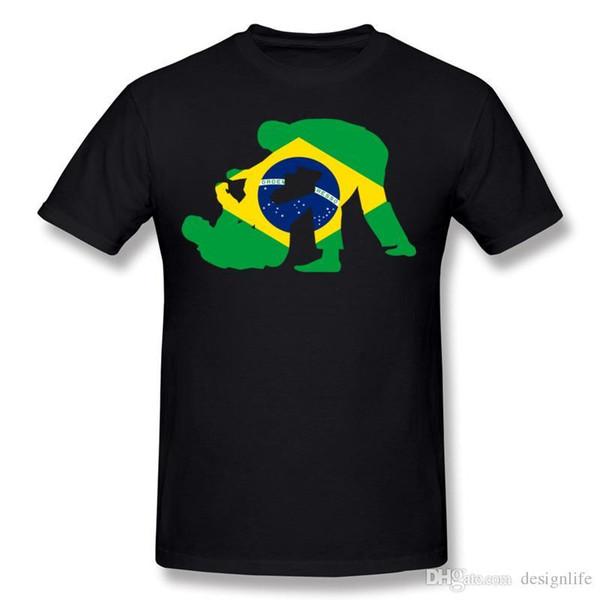 Newest Men's 100% Cotton Brazilian Jiu Jitsu Tee Shirts Men's O Neck Dark Blue Short Sleeve Sweatshirts 3XL Custom Tee Shirts