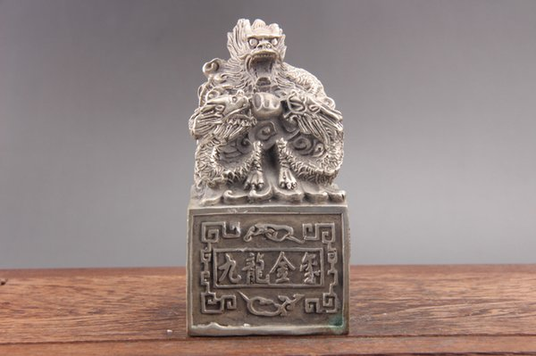 Exquisite china hand carving Cupronickel statue