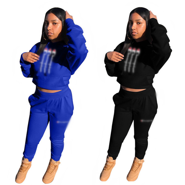 Women Casual Autumn Spring Long Sleeve Hoodie + Pants Two-piece Jogger Set Ladies Tracksuit Sports Sweat Suits Women Clothing