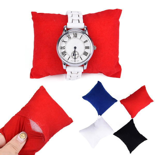 1pc 8*9*5 Cm Velvet Leather Bracelet Watch Pillow Jewelry Display Boxes Holder Organizers
