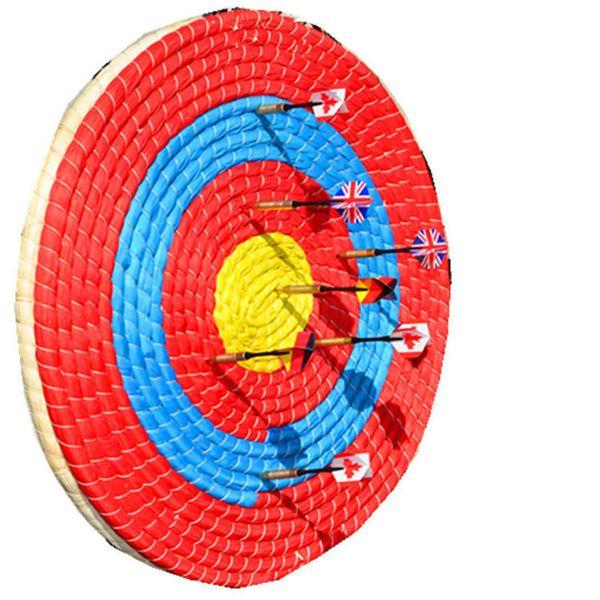 Esportes ao ar livre Tiro Com Arco Flecha De Palha Alvo Arco Tiro Decoração de Casa Camada Única diâmetro handmade 55 cm alvo