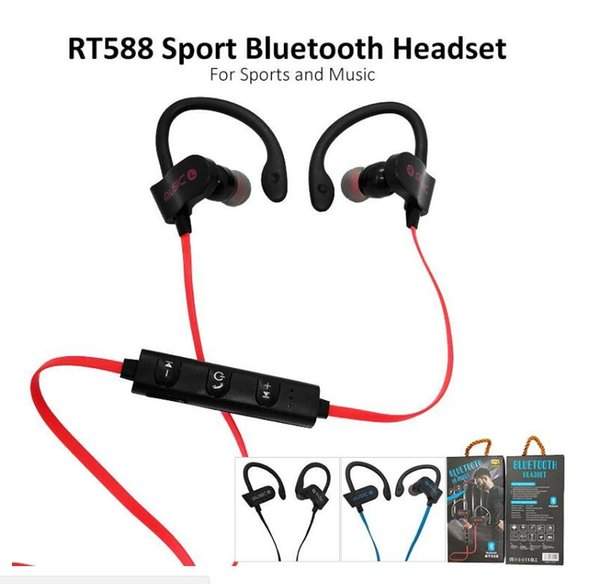 Bluetooth Headphones Sports In-Ear Wireless Bluetooth Earphone Stereo Earbuds Headset Bass Earphones with Mic for iPhone X Samsung Phone