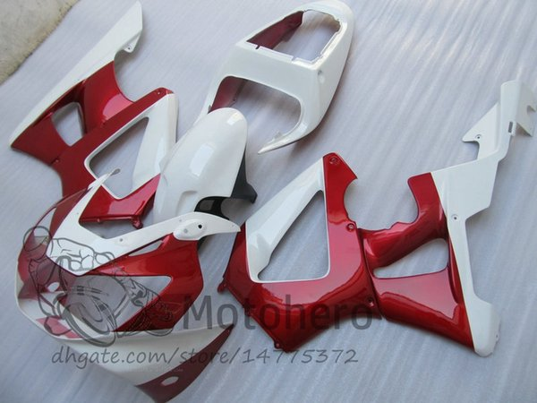 Inyección de carenado rojo blanco para Honda CBR 929 900 RR 929RR 00 01 900 2000 2001 CBR900RR 929 00 01 CBR929 Kit de carenado de carrocería
