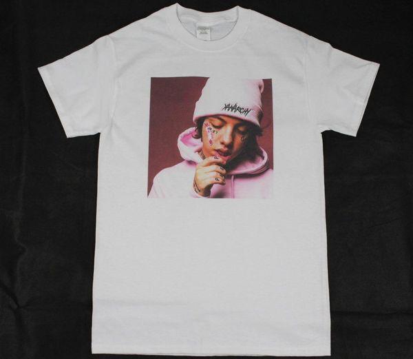 Lil Xan White T-Shirt S-3XL hip hop rap lil pump trippie rosso lil peep travis Tops Girocollo Tees Cotton Men T Shirt Basic Models tee