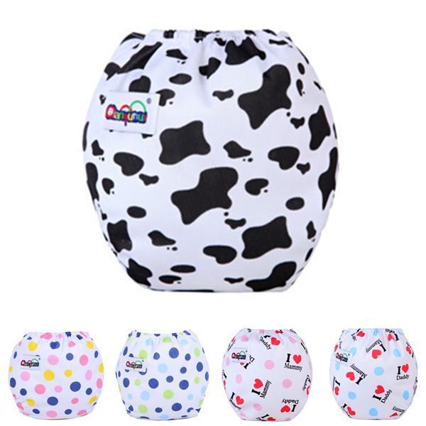 10pcs / Lot Pañales para bebés Pañales de tela Pañales reutilizables Pañales ajustables 14 Estilo puede rastrear QD24