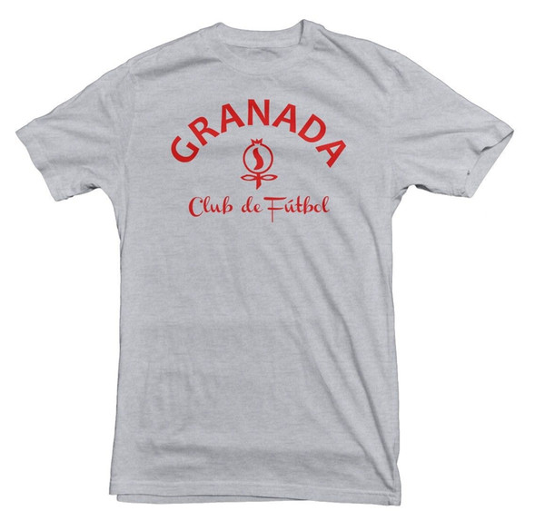 Granada CF Basic Logo Tee Four11 Designs Mens 2018 fashion Brand T Shirt O-Neck 100%cotton T-Shirt Tops Tee custom Environmental