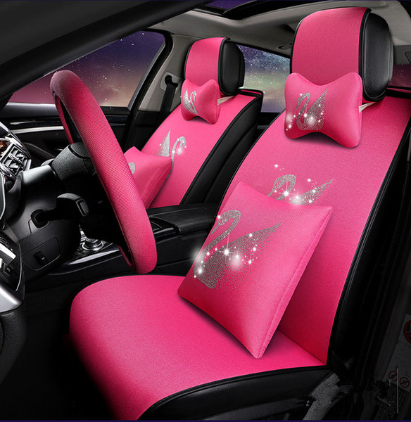 Superb Universal Fit Car Interior Accessory Seat Covers Set For Five Seat Sedan Durable Pu Leather Eight Pieces Seat Covers Set For Girls Suv Seat Covers For Alphanode Cool Chair Designs And Ideas Alphanodeonline