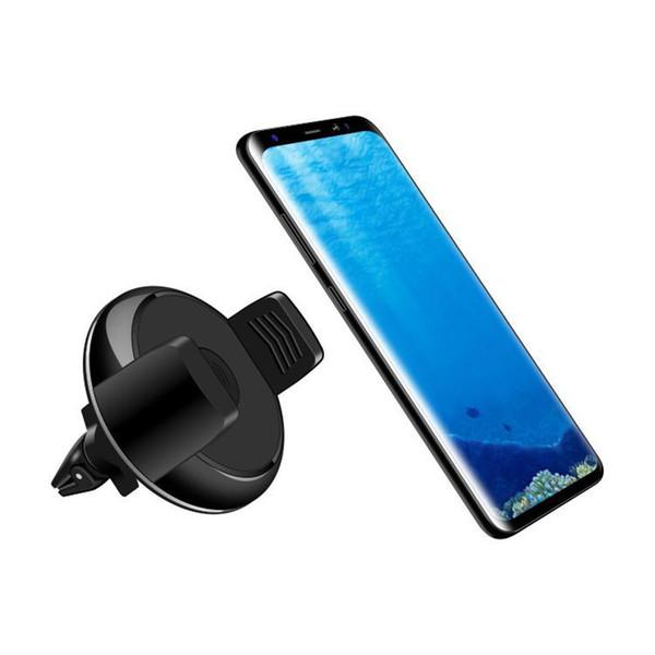 Qi Kablosuz Araç Şarj 360 Derece Rotasyon Manyetik Araç montaj Tutucu Qi Kablosuz Şarj Pad iphone X 7 8 artı Smartphone Için OTH132