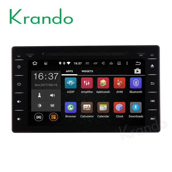 "Krando 8"" Android 7.1 car dvd radio navigation multimedia system for toyota hilux 2016+ audio entertainment player bluetooth"