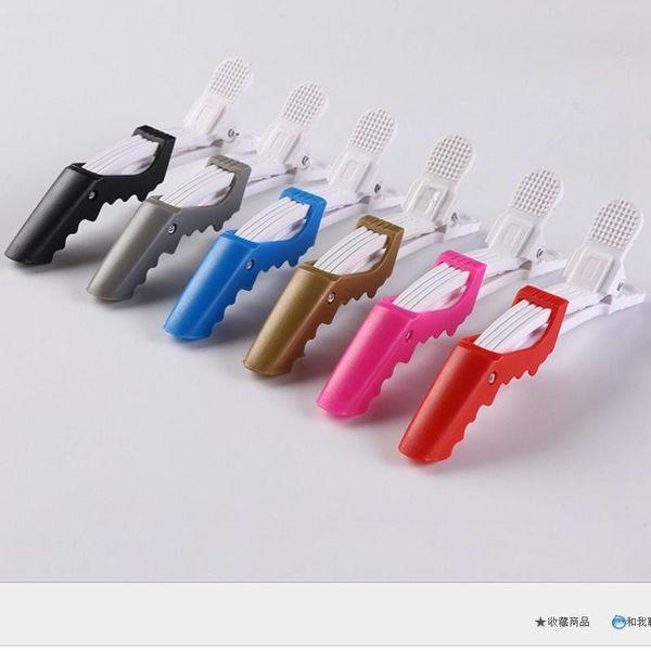 Clip di capelli lunghi della bocca di anatra Clip di capelli di posizionamento che posizionano fermagli di plastica professionali della forcina di capelli Strumenti di styling di progettazione dell'acconciatura