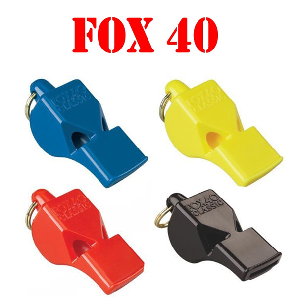 New FOX 40 Classic Referee Plastic Whistle 4 Colors Basketball Football Training Whistle Outdoor Gear EDC Tools Sports Accessories B240S F