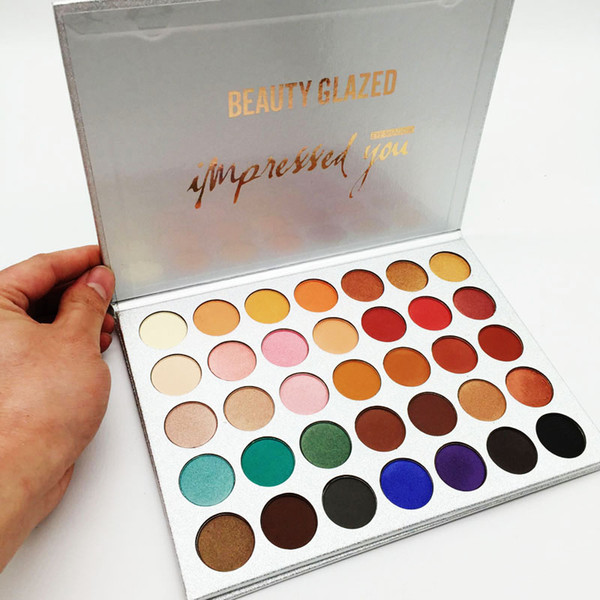 top popular Factory Direct Beauty Glazed Eyeshadow Palette 35 Colors Eye shadow shimmer matte makeup eyeshadow palette Brand Cosmetics DHL free shipping 2020