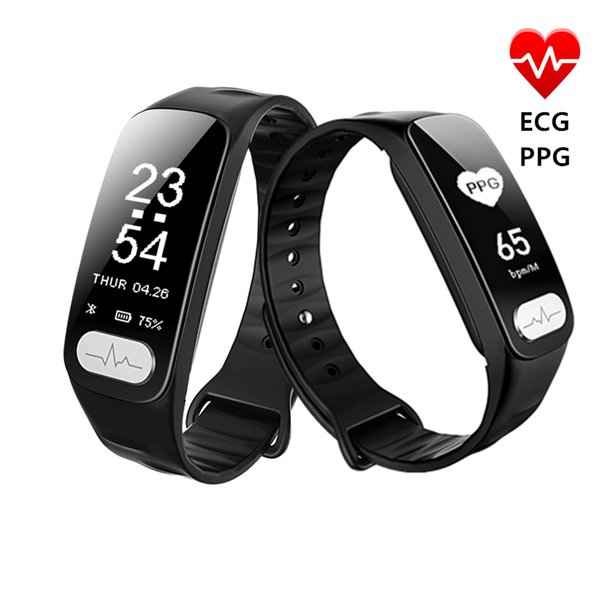 R11 ECG PPG Smart Band 0.96 inch Screen Heart Rate Blood Pressure Sleep Monitor Smart Wristband With Call SMS Reminder Thermometer GIFT