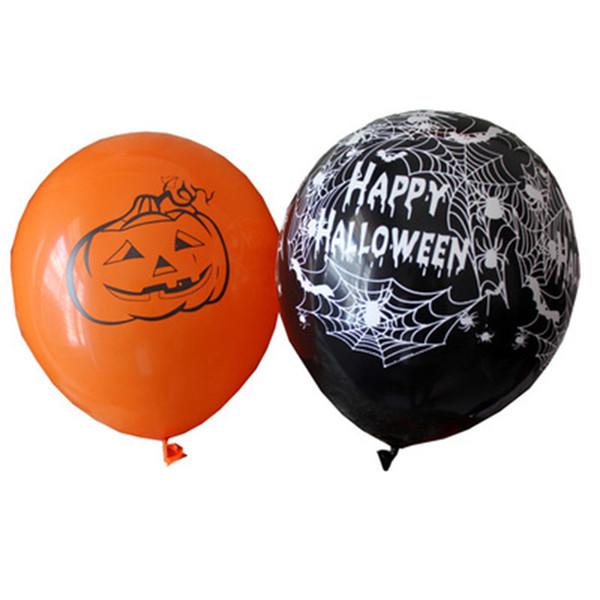 Lateks Balonlar 12 Inç Örümcek Web Kabak Korku Cadılar Bayramı Dekorasyon Hava Topu Çocuk Oyuncak Doğum Günü Partisi Dekoru