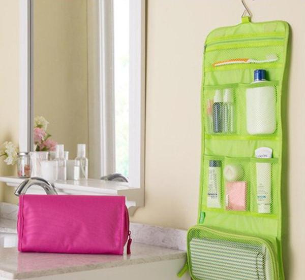 Roll Up Folding Travel Toiletry kit Underwear Storage Organizer Makeup Cosmetic Bag Wash Bag Free Shipping SN2091
