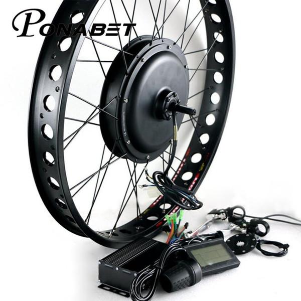 "Ponabet E bike Conversion Kit Electric Bicycle 26"" brushless Brushless Non Gear hub motor Electric bike 48v 500W"