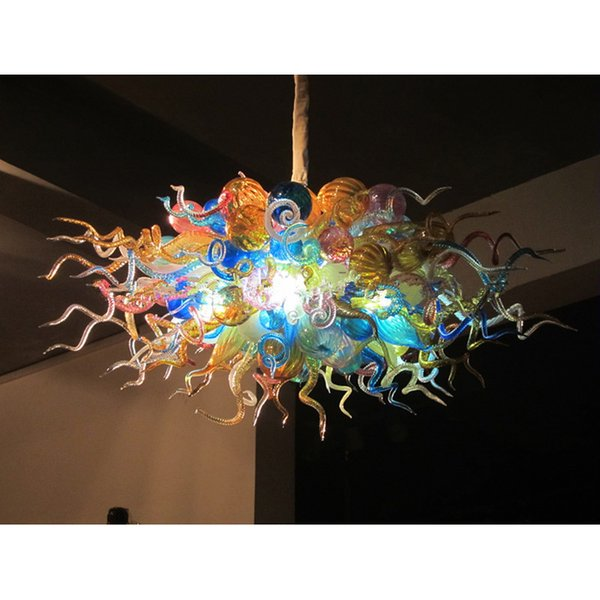Colorful Murano Glass G9 LED Bulbs for Home Chandelier Energy Saving Lighting 18W Warm White Lamp Free Shipping