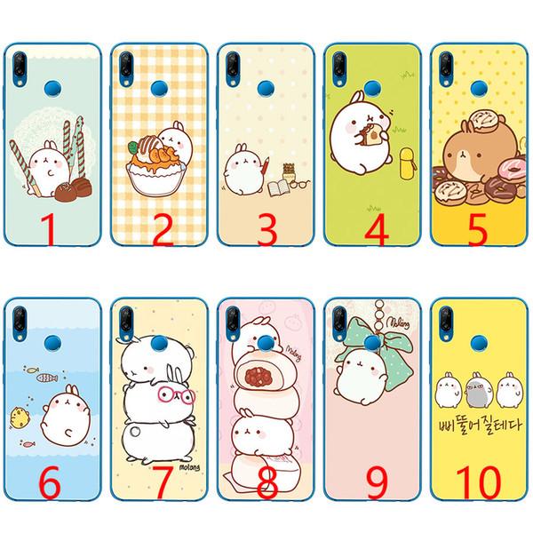 Симпатичные Kawaii коробка картофель и кролики Мягкий силиконовый TPU чехол для телефона Huawei Honor 7A Pro 6A 7X 8 Lite 9 Lite 10 крышка