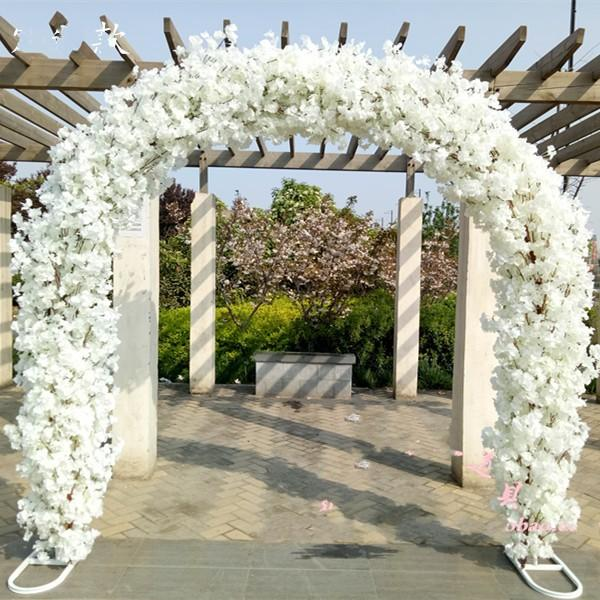 2.3M7.5FT Height white Cherry blossoms Wedding Arch Door Hanging Garland Flower Stand For Wedding Favors Party Decorations