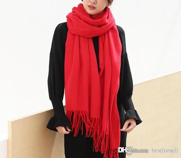 Fashion Women Scarves Grid Tassel Wrap Brand Designer Oversized Check Shawl Tartan Cashmere Scarf Winter Neckerchief Lattice Blankets