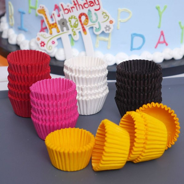 1000PCS 25x21mm Mini Colorful Paper Cake Cupcake Liner Baking Muffin Box Cup Case Party Tray Cake Mold Decorating Tools free shipping