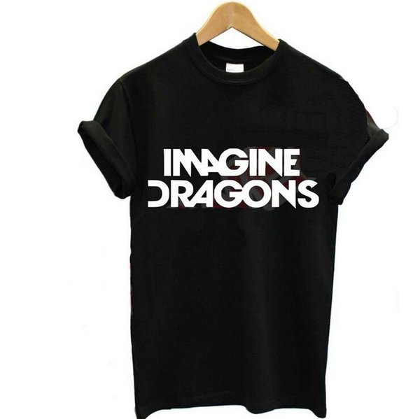 b0e21e31bec wholesale dolman top Promo Codes - Women Clothing Imagine Dragons Letters  Printed Casual Tshirts Summer Female