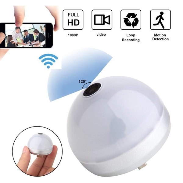 8GB Memory Full HD 1080P WiFi USB Light Bulb Security Camera Motion Activated Mini Video Recorder Wireless Nanny Cam PQ140A