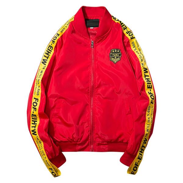 Großhandel HETOBETO Herren Jacken Und Mäntel Hip Hop Jacke Männer Kleidung Baumwolle Stickerei Peace Jacke Reißverschluss Mantel Männer Bomber Von