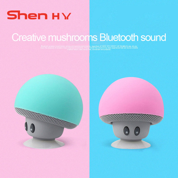 BX Mushroom Style Mini Bluetooth Speakers with Hands-Free Capability