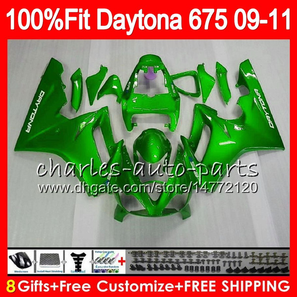 Glossy green Injection For Triumph Bodywork Daytona 675 2009 2010 2011 2012 107HM.87 Daytona 675 09 10 11 12 Daytona-675 Daytona675 Fairing